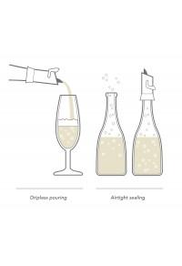 VACUVIN Köpüklü Şarap Koruyucu & Damlalık