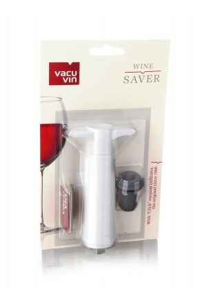 VACUVIN Şarap Vakum Seti / Beyaz (1 pompa + 1 tıpa)