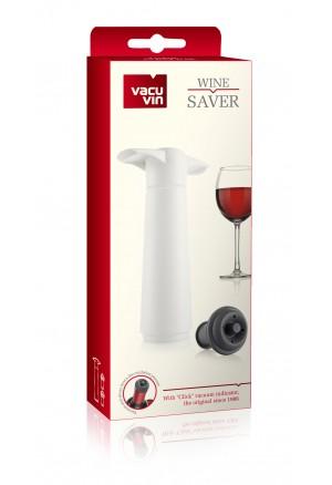 VACUVIN Şarap Vakum Seti / Beyaz (1 pompa + 2 tıpa)
