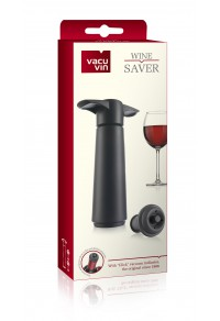 VACUVIN Şarap Vakum Seti / Siyah (1 pompa + 2 tıpa)